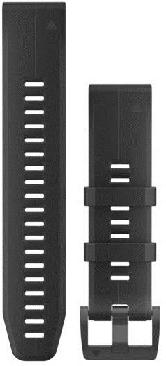 Garmin Quickfit 22mm Silicone Band Musta