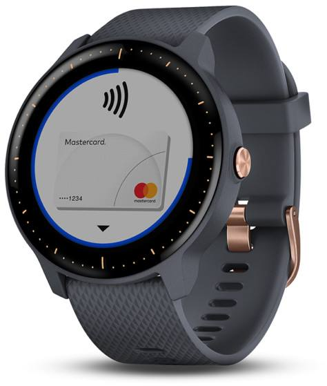 Garmin Vivoactive 3 Music Granite Blue Gold Rose